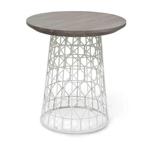 outdoor side table white