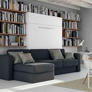 armoire lit a ouverture assistee traccia canape integre et With armoire canapé lit