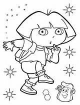 Dora Coloring Explorer Quiet Printable Diego Categories Version Cartoon Entitlementtrap sketch template