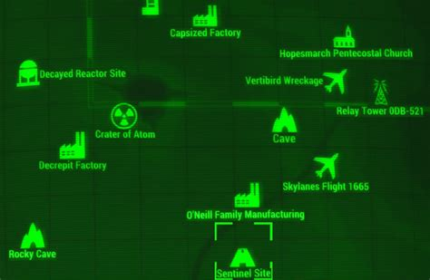 Image  Fo4 Map Sentinel Sitejpg  Fallout Wiki  Fandom