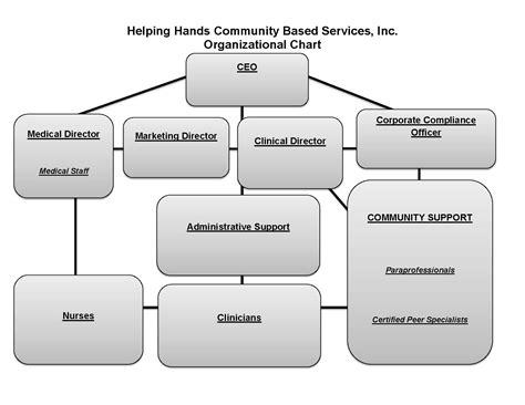 organizational structure helping hands community based