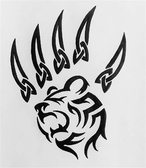 Tribal Bear Paw Tattoo Designs
