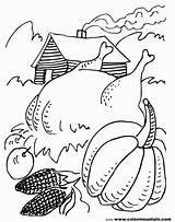 Coloring Harvest Thanksgiving Popular sketch template