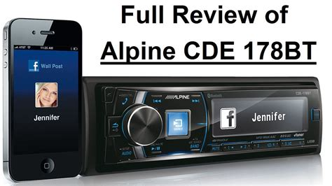 alpine cde 178bt review of alpine cde 178bt in german
