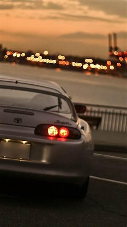 Supra Toyota Mkiv Tokyo Japan Cityscapes Lights