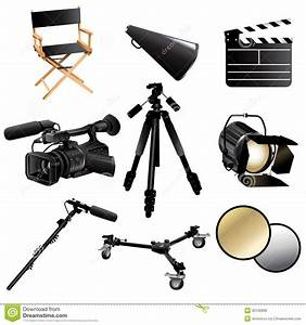 Filming Movie Icons Royalty Free Stock Images - Image ...