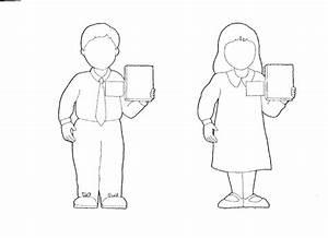 Boy girl outline | Primary | Pinterest | Sunday school ...
