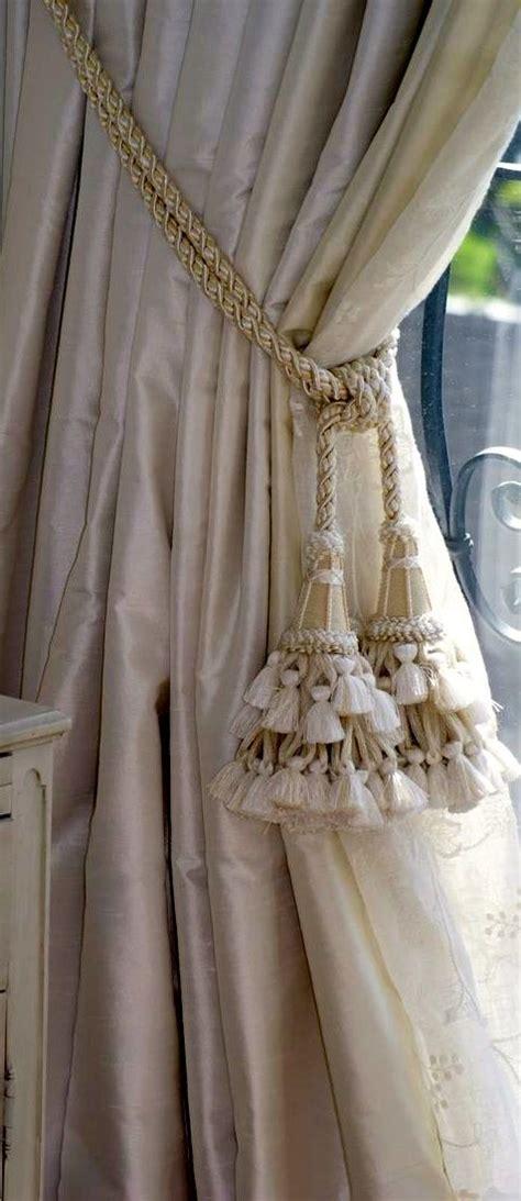 Silk Draperies With Tassel Tiebacks  Drapery Styles