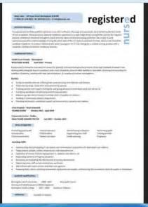 2 Sample Curriculum Vitae Format For Nurses Resumes Design