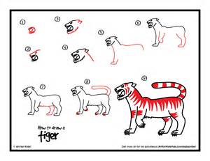 How to Draw a Tiger Easy Steps for Kids In