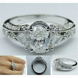 vintage oval diamond engagement ring jewels pinterest With vintage oval wedding rings