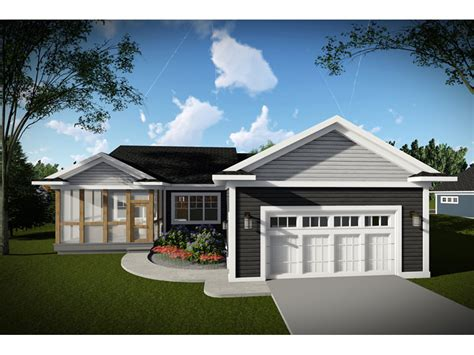 mollie craftsman ranch home plan   house plans