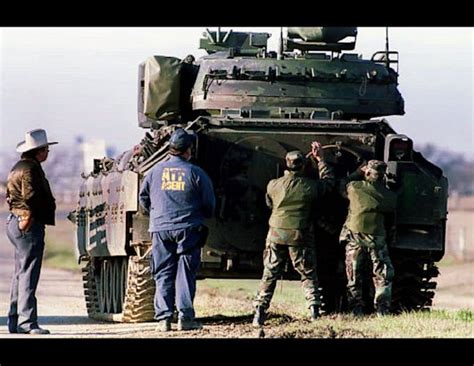 siege apc tobacco and firearms agents raid david koresh