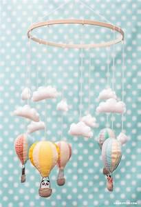 Mobile Baby Diy : hot air balloon baby mobile lia griffith ~ Buech-reservation.com Haus und Dekorationen