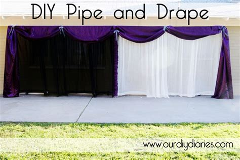 pipe and drape diy blissful 55 shower me with pretty thing diy pipe and drape