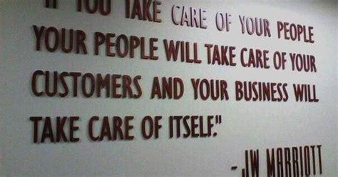 marriott quote  people customer satisfaction