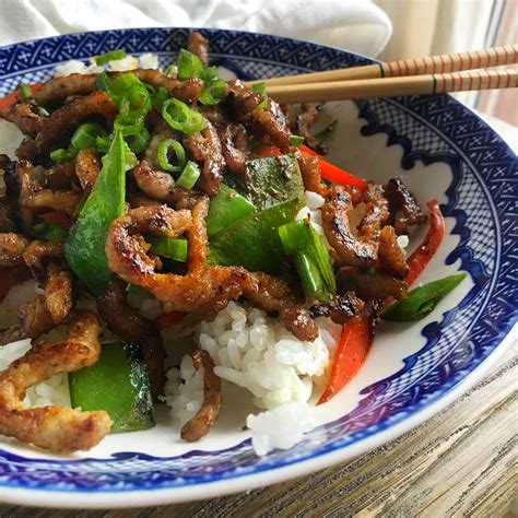 pork stir fry crispy pork stir fry