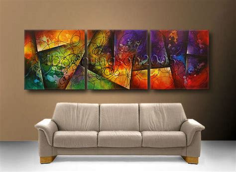 framed canvas sale modern abstract canvas painting framed gop36