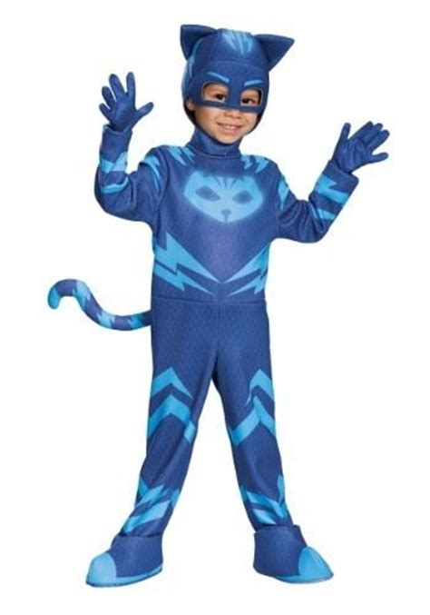 disfraz nino pj mask catboy traje heroes en pijamas gatuno