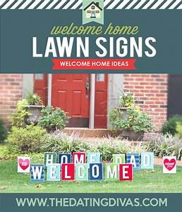 welcome home printable party kit With welcome home yard letters
