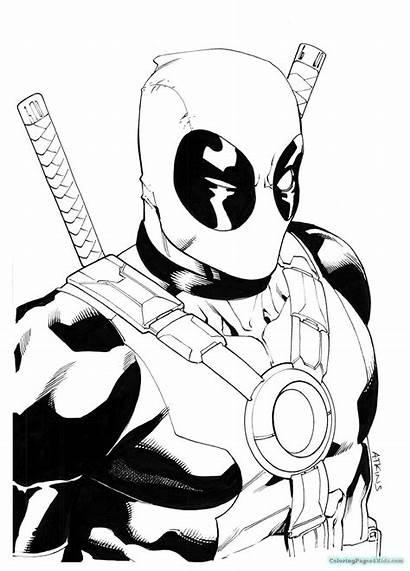 Deadpool Coloring Hero