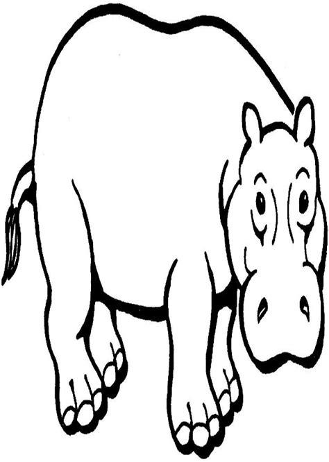 Hipopótamo para colorear Dibujosparacolorear eu