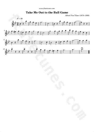 ball game  von tilzer  flute