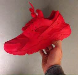 All Red Nike Huarache Shoes