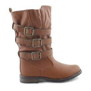 womens knee length boots uk womens knee length low heel biker calf boots shoes sizes uk 3 8