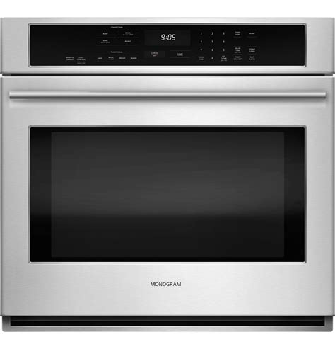 monogram  electric convection single wall oven zetshss ge appliances