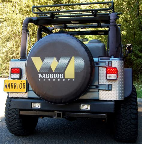jeep tj led steel led tail lights warrior products