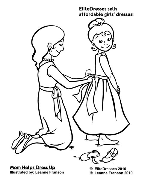 Dress Up Coloring Sheets Coloring Page Dressup Free Colouring Pages