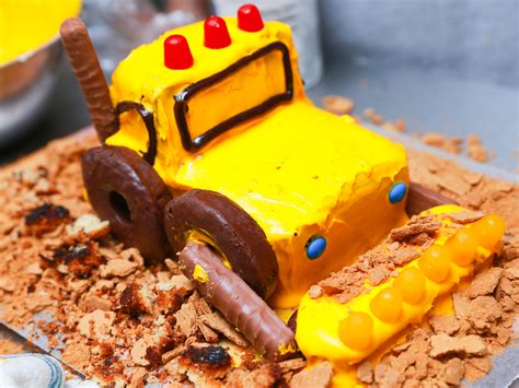 excavator cake  steps  pictures wikihow