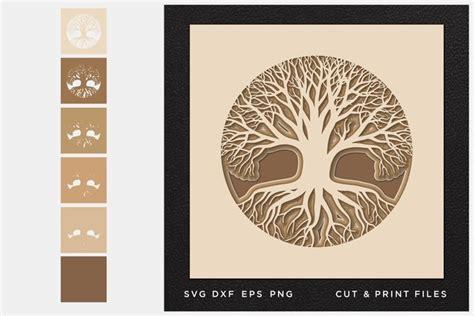 tree  life svg cut file mandala multilayer layered svg  cut files design bundles