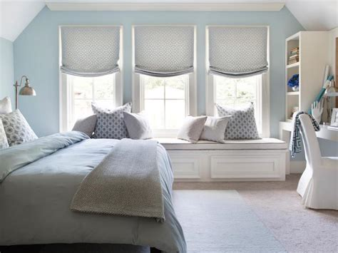 Blue Bedroom With Gray Nightstand-transitional-bedroom