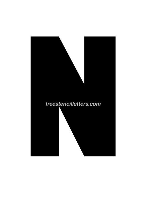 12 inch letters print 12 inch n letter stencil free stencil letters 15749