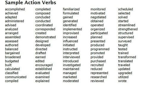 Strong Verbs For Resumes by Pin By Mcdonald On Writing Charts Quot Transition