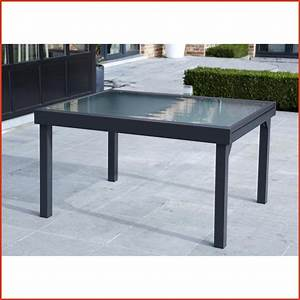Table De Jardin Aluminium Et Verre. table jardin verre aluminium ...
