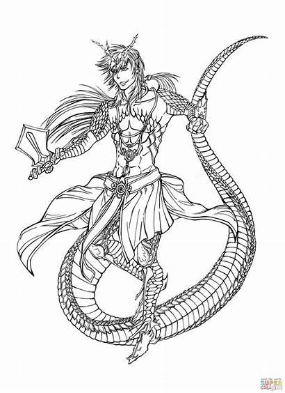 Magi Coloring Sinbad Pages Magic Labyrinth Character