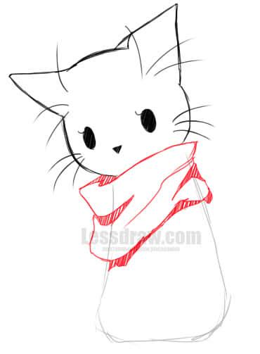 draw anime cat easy lessdraw
