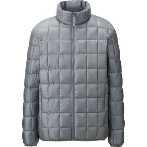 ultra light down jacket uniqlo ultra light down square quilted jacket in gray for