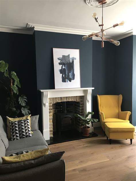 Htons Blue Living Room by Living Room Transformation Hague Blue Farrow And
