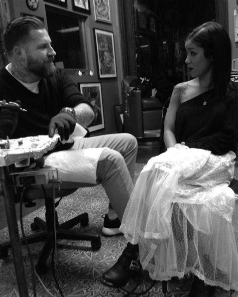 Jhene Aiko Getting tattooed by luke wessman. NYC Soho