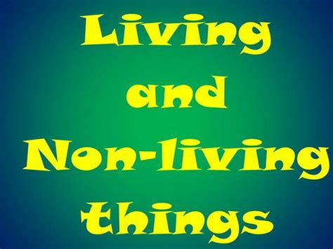 living or non living authorstream