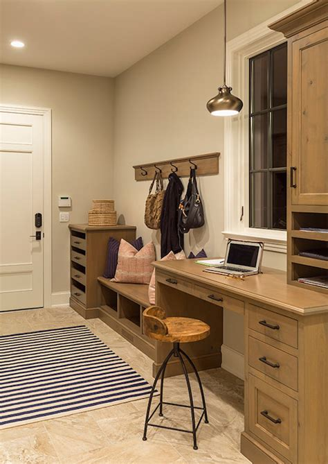 mudroom  desk country laundry room hendel homes