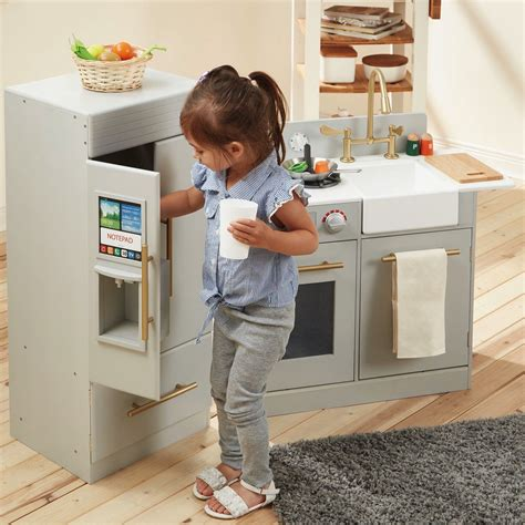 teamson kids  piece urban adventure play kitchen set