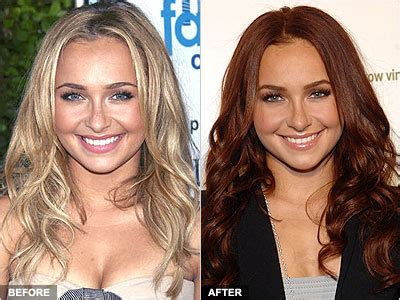 haydenpanettiereredhaircolorcelebrity hairstyles