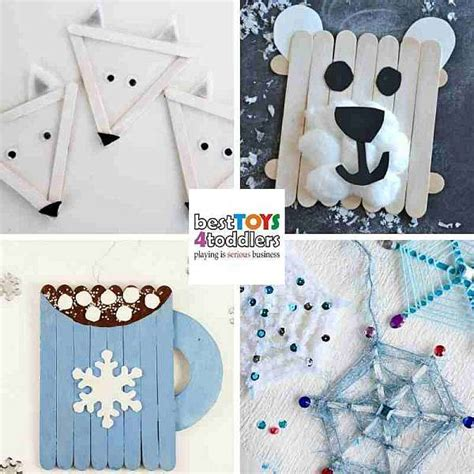 green winter crafts  kids  recycled materials