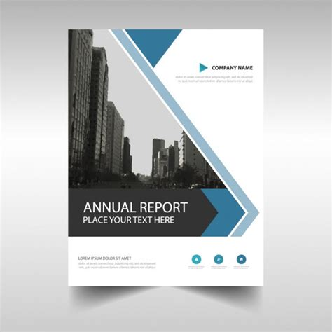 free annual report abstract annual report brochure template vector free