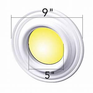 Spot light trim white urethane foam recessed quot id